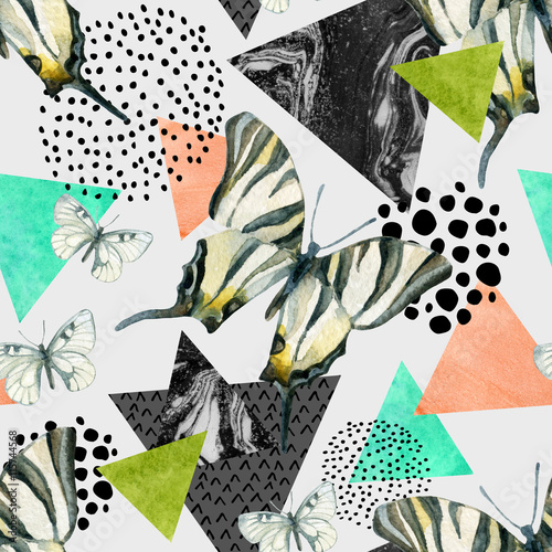 Photo sur Toile Empreintes Graphiques Abstract natural geometric seamless pattern