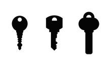 Vintage Key Antique Door Key Isolated On White Background. Access Household Vintage Key. Retro Door Metal Security Vintage Key And Vintage Key Safe House Decorative. Decorative Key Silhouette