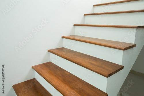 wooden stairs in home Fototapeta