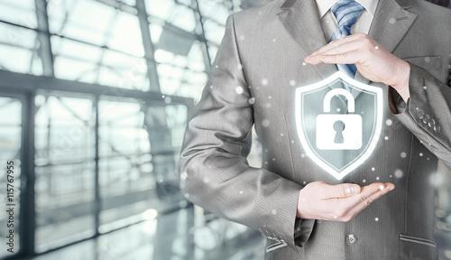 Fotografie, Obraz  Data protection and insurance