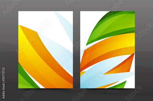 colorful swirl design annual report cover template buy this stock