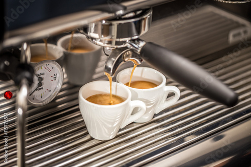 Photo  Professional espresso machine