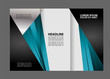 Colors Polygonal Geometric Elements Style Business Tri-Fold Brochure Template. Corporate Leaflet, Cover Design