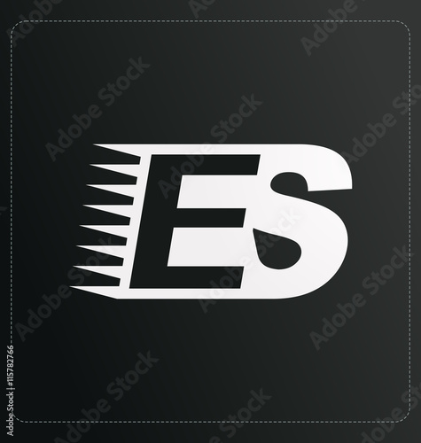 Photo  ET Two letter composition for initial, logo or signature