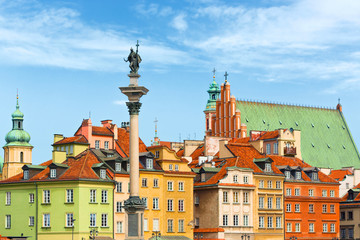 Sigismund's Column in Warsaw city Poland