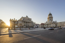 Germany, Berlin, View To Gendarmenmarkt In The Evening