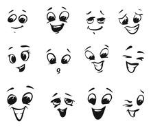 Happy Smiling And Laughing Cartoon Faces