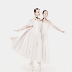 Fototapeta Romantic Beauty. Retro Style ballerinas