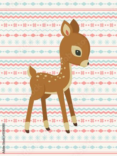 baby-deer-pattern-card