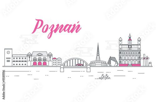 Fotografia, Obraz  Panorama miasta Poznań