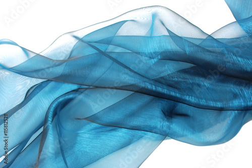 Foto op Canvas Stof closeup of the wavy organza fabric