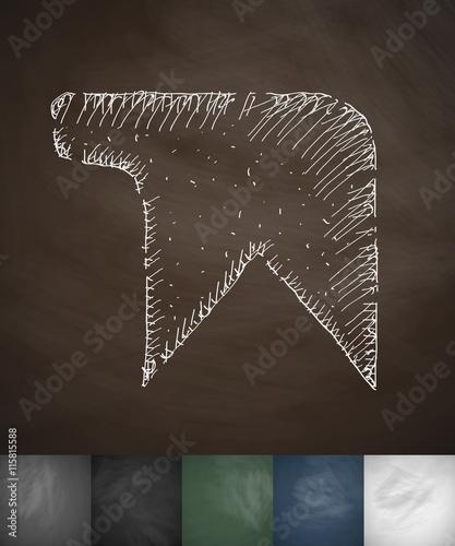 Fototapety, obrazy: bookmark icon. Hand drawn vector illustration