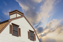 Wood Barns / Cottage And Blue Sky