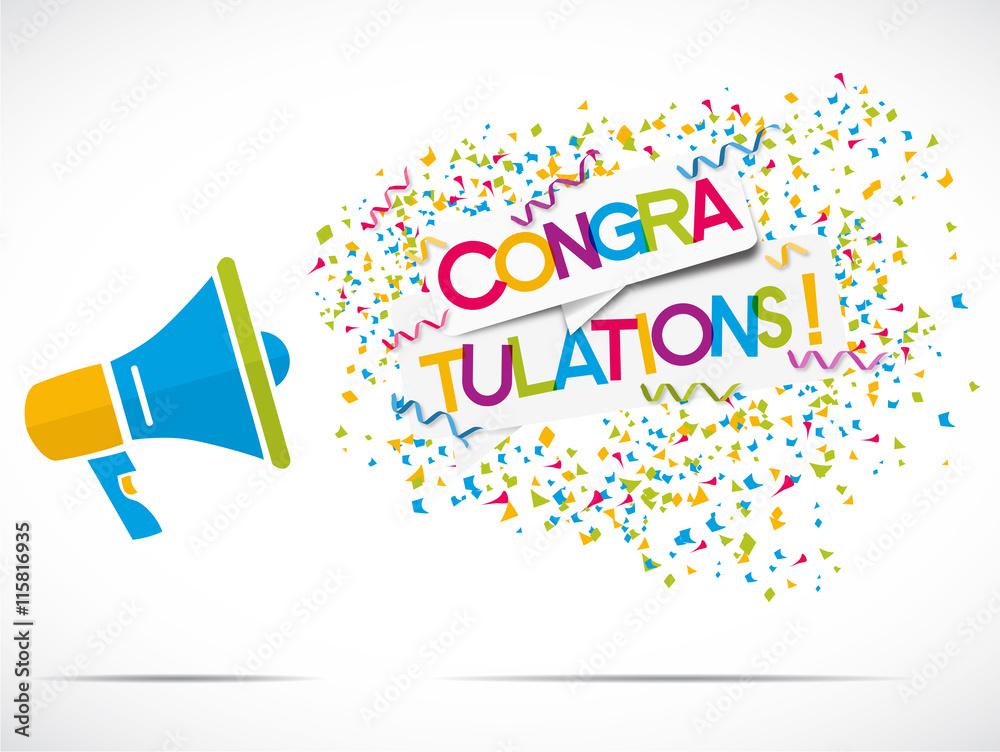 Valokuva megaphone : congratulations