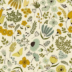 Seamless floral pattern on