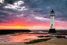 Perch Rock Lighthouse At New B...