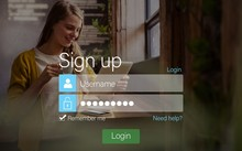 Signup Screen With Blonde Girl...
