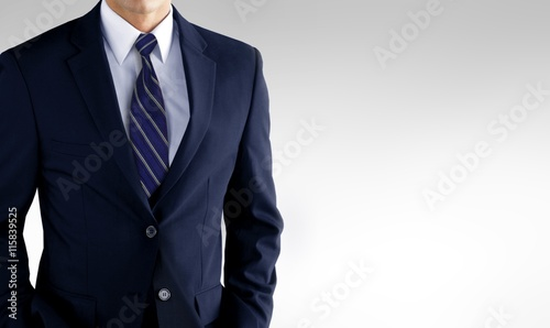 Fotografía Man in business suit over white