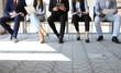 Leinwanddruck Bild - Stressful people waiting for job interview