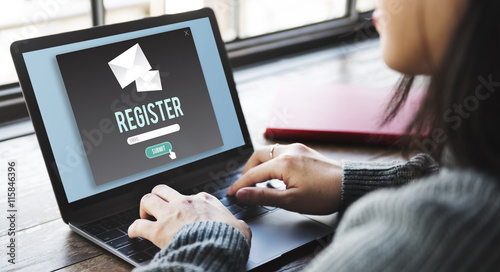 фотография Register Apply Enlist Join Record Sign-Up Enter Concept