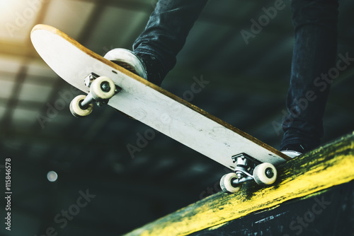 Fotografie, Obraz  Skateboard Extreme Sport Skater Park Recreational Activity Conce