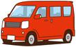 軽ワゴン車、赤色