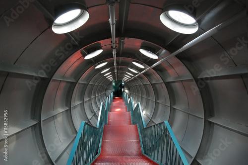 Tunnel Bruxelles Atomium Wallpaper Mural