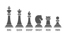 Named Chess Piece Vector. Icon...