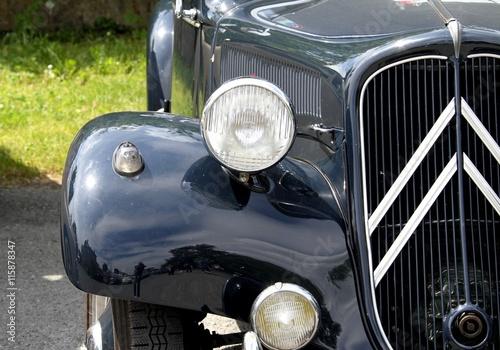 fototapeta na lodówkę vieilles calandres,véhicules anciens,voitures de collection