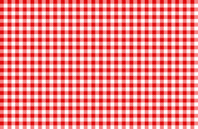 Rot-weiß Karo Tischdecke Must...