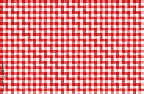 Fotografie, Obraz  rot-weiß Karo Tischdecke Muster kariert Picknick