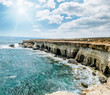 Views of the sea and cliffs of Cape Greco . Cyprus.