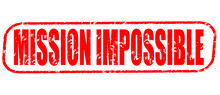 Mission Impossible On The White Background, Red Illustration