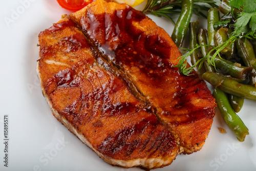 In de dag Eten Grilled salmon