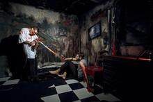 Psycho Killer Tortures With Gas Burner Miserable Victim