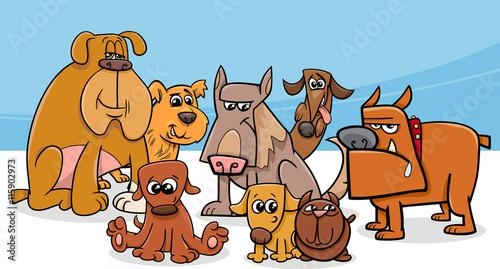 dogs group cartoon - 115902973