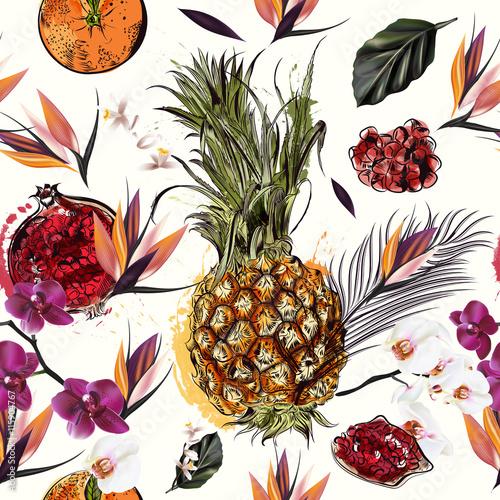wzor-z-tropikalnych-owocow