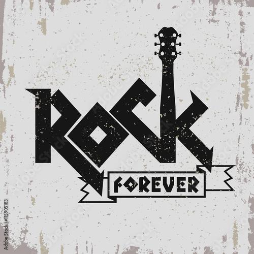 Valokuva  Rock music print