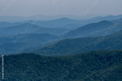 Photo  Layers of Mountains in Virginia
