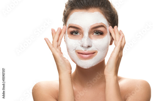 Pinturas sobre lienzo  Beautiful woman with facial mask