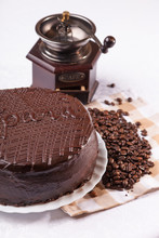 Cake With Coffee Beans
