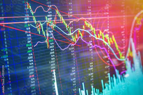 Pinturas sobre lienzo  financial graph chart background