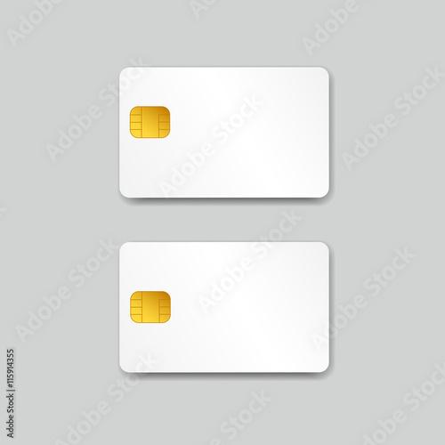 White Blank Credit Card Or Smart Card Vector Illustration Buy