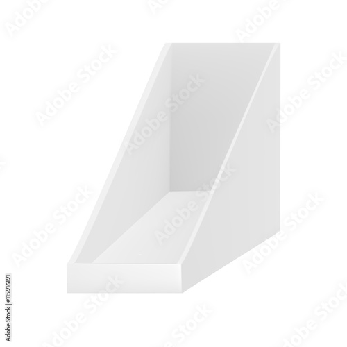 VECTOR Triangular Empty Show Box Holder For Leaflets Magazines Magnificent Magazine Holder Template