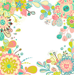 Floral Card for beautiful design