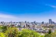 仙台城跡から眺める仙台の町並み
