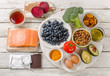 Best Foods for brain. Healthy diet Concept.