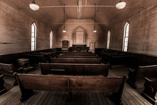 Inside An Old Church Bodie Mining Town California