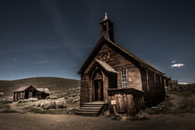 Old Wooden Chapel Bodie Mining Town