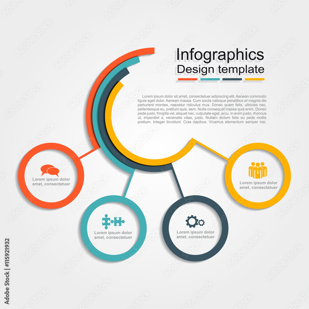 Photo  Infographic design template. Vector illustration.